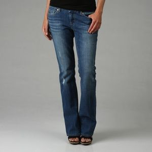 distressed bootcut jeans by Banana Republic